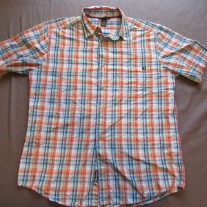 Marmot Plaid Button Front Shirt Sz M